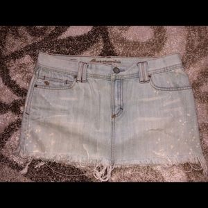 Abercrombie & Fitch Jean Skirt with bling